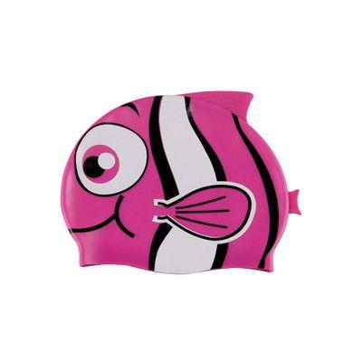 Touca de Natação Silicone Peixinho - Rosa - lojamor fe0192d6159