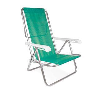 Cadeira-Reclinavel-8-Posicoes-Aluminio-Tela-Sannet-Verde-Maca