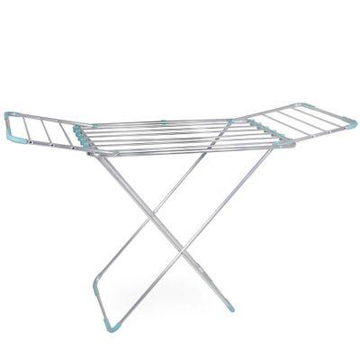 Varal-Chao-Aluminio-Com-Abas-Lovely-Azul-Turquesa
