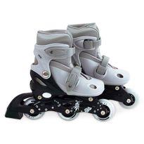 Kit-Roller-Cinza-Tamanho-P-31-34--Roller-Joelheira-e-Capacete-