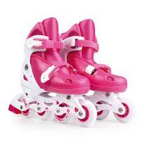 Kit-Roller-Rosa-Tamanho-M-35-38--Roller-Joelheira-e-Capacete-