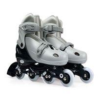 Kit-Roller-Cinza-Tamanho-M-35-38--Roller-Joelheira-e-Capacete-