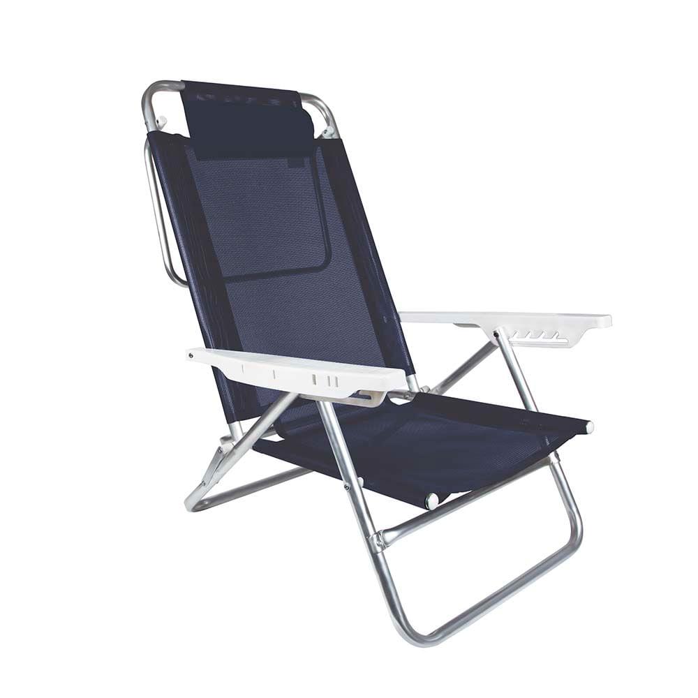 Cadeira Reclin Vel Com Almofada Summer Azul Lojamor -> Cadeiras Acrilico Azul Turquesa