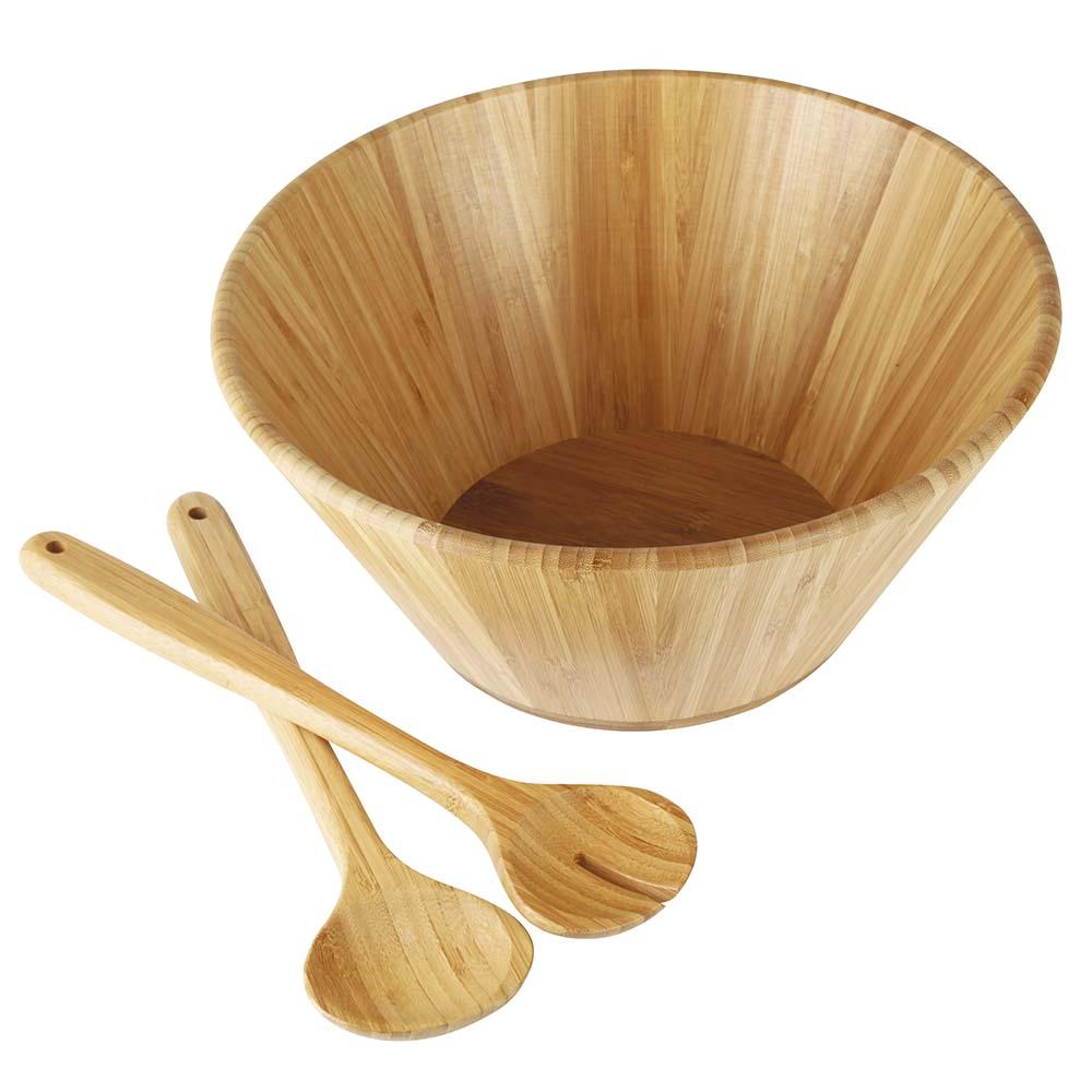 Conjunto De Saladeiras Bamboo 3 Pe As Lojamor